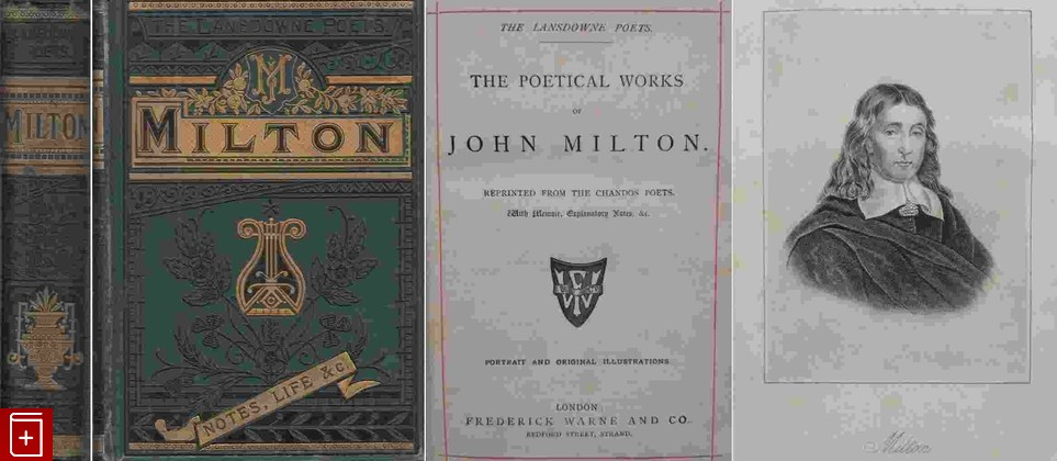 антикварная книга The poetical works of John Milton Милтон Дж.  , старинная книга: фото №1